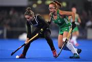 3 November 2019; Amanda Woodcroft of Canada in action against Zoe Wilson of Ireland during the FIH Women's Olympic Qualifier match between Ireland and Canada at Energia Park in Dublin.  Photo by Brendan Moran/Sportsfile