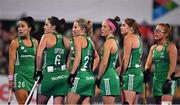 3 November 2019; Ireland players wait on a video referral during the second quarter of the FIH Women's Olympic Qualifier match between Ireland and Canada at Energia Park in Dublin. Photo by Brendan Moran/ Sportsfile