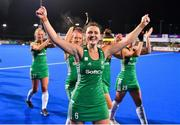 3 November 2019; Roisin Upton of Ireland celebrates after qualifying for the Tokyo2020 Olympic Games after the FIH Women's Olympic Qualifier match between Ireland and Canada at Energia Park in Dublin. Photo by Brendan Moran/Sportsfile