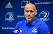 4 November 2019; Backs coach Felipe Contepomi during a Leinster Rugby press conference at Leinster Rugby Headquarters in UCD, Dublin. Photo by Ramsey Cardy/Sportsfile