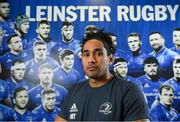 4 November 2019; Joe Tomane poses for a portrait following a Leinster Rugby press conference at Leinster Rugby Headquarters in UCD, Dublin. Photo by Ramsey Cardy/Sportsfile