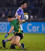 3 November 2019; Michael Darragh MacAuley of Ballyboden St Enda's is tackled by David Keogh of Thomas Davis during the Dublin County Senior Club Football Championship Final match between Thomas Davis and Ballyboden St Enda's at Parnell Park in Dublin. Photo by Brendan Moran/Sportsfile