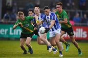 3 November 2019; Colm Basquel of Ballyboden St Enda's in action against Adam Fallon of Thomas Davis during the Dublin County Senior Club Football Championship Final match between Thomas Davis and Ballyboden St Enda's at Parnell Park in Dublin. Photo by Brendan Moran/Sportsfile