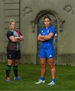 7 November 2019; Leinster Rugby and Harlequins have confirmed a first ever friendly between their respective women's senior teams to be played in Twickenham Stadium on 28th December 2019. The game will be part of 'Big Game 12' event which also sees Harlequins take on Leicester Tigers in the Gallagher Premiership. Tickets for the game and further information can be found at quins.co.uk. Pictured at UCD are Sene Naoupu, Leinster Rugby Women's captain, and Rachael Burford, Harlequins captain. Photo by Eóin Noonan/Sportsfile