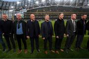 3 November 2019; Members of the Sligo Rovers FAI Cup winning team of 1994 at half-time of the extra.ie FAI Cup Final between Dundalk and Shamrock Rovers at the Aviva Stadium in Dublin. Photo by Stephen McCarthy/Sportsfile