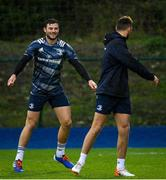 4 November 2019; Robbie Henshaw, left, and Ross Byrne during Leinster Rugby squad training at Energia Park in Donnybrook, Dublin. Photo by Ramsey Cardy/Sportsfile