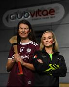 4 November 2019; Today, Club Vitae, announces its appointment as an Official Supporter of the 20x20 movement. 20×20 is an all-inclusive movement to shift Ireland's cultural perception of women's sport by 2020 and encourage more women to get involved at all levels of sport. Each of the 13 Club Vitae locations nationwide will champion women in sport by hosting a 20x20 Week between November and December and again between January and March 2020, offering a suite of fitness services and health and wellness facilities to women free of charge. Pictured is Galway camogie player Niamh Hannify, left, and gymnast Molly Nightingale at Club Vitae at the Clayton Hotel Cardiff Lane in Dublin. Photo by Ramsey Cardy/Sportsfile