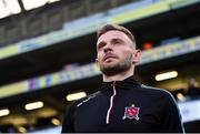 3 November 2019; Andy Boyle of Dundalk ahead of the extra.ie FAI Cup Final between Dundalk and Shamrock Rovers at the Aviva Stadium in Dublin. Photo by Ben McShane/Sportsfile