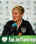 5 November 2019; Manager Vera Pauw during the Republic of Ireland WNT squad announcement at the FAI Headquarters in Abbotstown, Dublin. Photo by Brendan Moran/Sportsfile