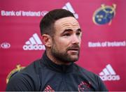 5 November 2019; Alby Mathewson during a Munster Rugby squad press conference at University of Limerick in Limerick. Photo by Matt Browne/Sportsfile