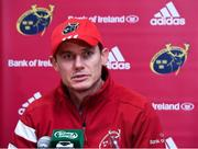 5 November 2019; Munster Senior Coach Stephen Larkham during a Munster Rugby squad press conference at University of Limerick in Limerick. Photo by Matt Browne/Sportsfile