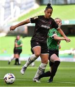 3 November 2019; Rianna Jarrett of Wexford Youths and Claire Walsh of Peamount United during the Só Hotels FAI Women's Cup Final between Wexford Youths and Peamount United at the Aviva Stadium in Dublin. Photo by Ben McShane/Sportsfile