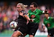 3 November 2019; Nicola Sinnott of Wexford Youths in action against Megan Smyth Lynch of Peamount United during the Só Hotels FAI Women's Cup Final between Wexford Youths and Peamount United at the Aviva Stadium in Dublin. Photo by Ben McShane/Sportsfile