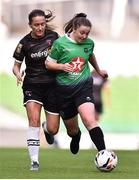 3 November 2019; Eleanor Ryan Doyle of Peamount United in action against Kylie Murphy of Wexford Youths during the Só Hotels FAI Women's Cup Final between Wexford Youths and Peamount United at the Aviva Stadium in Dublin. Photo by Ben McShane/Sportsfile