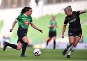 3 November 2019; Áine O'Gorman of Peamount United and Nicola Sinnott of Wexford Youths during the Só Hotels FAI Women's Cup Final between Wexford Youths and Peamount United at the Aviva Stadium in Dublin. Photo by Ben McShane/Sportsfile