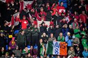 3 November 2019; Ireland and Canada supporters during the FIH Women's Olympic Qualifier match between Ireland and Canada at Energia Park in Dublin. Photo by Brendan Moran/Sportsfile