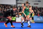 3 November 2019; Nikki Evans of Ireland in action against Shanlee Johnston of Canada during the FIH Women's Olympic Qualifier match between Ireland and Canada at Energia Park in Dublin. Photo by Brendan Moran/Sportsfile