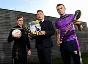 6 November 2019; The Gaelic Players Association's (GPA) Chief Executive Paul Flynn has launched their Student Report 2019 at the Campus Conference in Abbotstown in Dublin. The report highlights the challenges experienced by GPA student-members and provides actionable GPA recommendations to help student-members achieve better-balanced lifestyles so they can thrive on and off the field, Pictured at the Gaelic Players Association Launch Student Report are GPA CEO Paul Flynn with Tyrone footballer Conor Meyler and Wexford hurler Rory O'Connor Photo by Matt Browne/Sportsfile
