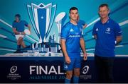 6 November 2019; Leinster head coach Leo Cullen and captain Jonathan Sexton in attendance at the EPCR 2019/20 Season Launch at Principality Stadium in Cardiff, Wales. Photo by Gareth Everitt/Sportsfile