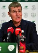 6 November 2019; Manager Stephen Kenny during a Republic of Ireland U21 Squad Announcement at the FAI Headquarters in Abbotstown, Dublin Photo by Brendan Moran/Sportsfile