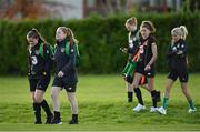 8 November 2019; Tyler Toland, left, and Amber Barrett, during a Republic of Ireland WNT training session at Johnstown House in Enfield, Meath. Photo by Seb Daly/Sportsfile