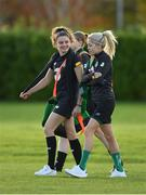 8 November 2019; Leanne Kiernan, left, and Denise O'Sullivan during a Republic of Ireland WNT training session at Johnstown House in Enfield, Meath. Photo by Seb Daly/Sportsfile
