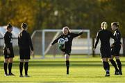 8 November 2019; Amber Barrett, centre, during a Republic of Ireland WNT training session at Johnstown House in Enfield, Meath. Photo by Seb Daly/Sportsfile