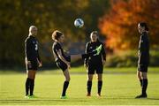 8 November 2019; Leanne Kiernan, second left, with team-mates Stephanie Roche, Tyler Toland and Marie Hourihan during a Republic of Ireland WNT training session at Johnstown House in Enfield, Meath. Photo by Seb Daly/Sportsfile