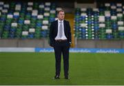 8 November 2019; Dundalk head coach Vinny Perth prior to the Unite the Union Champions Cup first leg match between Linfield and Dundalk at the National Football Stadium at Windsor Park in Belfast. Photo by Oliver McVeigh/Sportsfile