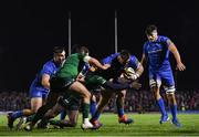 8 November 2019; Andrew Porter of Leinster on his way to scoring his side's first try during the Guinness PRO14 Round 6 match between Connacht and Leinster at the Sportsground in Galway. Photo by Ramsey Cardy/Sportsfile