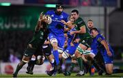 8 November 2019; Scott Fardy of Leinster is tackled by Jarrad Butler of Connacht during the Guinness PRO14 Round 6 match between Connacht and Leinster at the Sportsground in Galway. Photo by Ramsey Cardy/Sportsfile