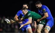 8 November 2019; Jack Carty of Connacht is tackled by Josh Murphy of Leinster during the Guinness PRO14 Round 6 match between Connacht and Leinster in the Sportsground in Galway. Photo by Brendan Moran/Sportsfile