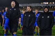 8 November 2019; Leinster forwards, from left, Devin Toner, Cian Healy and Andrew Porter after the Guinness PRO14 Round 6 match between Connacht and Leinster in the Sportsground in Galway. Photo by Brendan Moran/Sportsfile