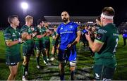 8 November 2019; Leinster captain Scott Fardy leads his side off the pitch after the Guinness PRO14 Round 6 match between Connacht and Leinster in the Sportsground in Galway. Photo by Brendan Moran/Sportsfile