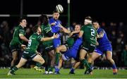 8 November 2019; Connacht players Denis Buckley, Caolin Blade, Niyi Adeolokun, Jack Carty and Tom McCartney compete for a loose ball with Leinster players Josh Murphy, James Lowe and Andrew Porter during the Guinness PRO14 Round 6 match between Connacht and Leinster in the Sportsground in Galway. Photo by Brendan Moran/Sportsfile