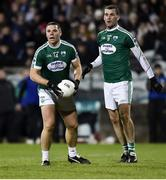 30 October 2019; Kevin Cassidy and Eamonn McGee of Gaoth Dobhair during the Donegal County Senior Club Football Championship Final 2nd Replay match between Gaoth Dobhair and Naomh Conaill at Mac Cumhaill Park in Ballybofey, Donegal. Photo by Oliver McVeigh/Sportsfile
