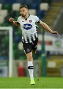 8 November 2019; Andy Boyle of Dundalk during the Unite the Union Champions Cup first leg match between Linfield and Dundalk at the National Football Stadium at Windsor Park in Belfast. Photo by Oliver McVeigh/Sportsfile