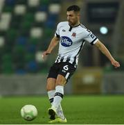 8 November 2019; Jordan Flores of Dundalk during the Unite the Union Champions Cup first leg match between Linfield and Dundalk at the National Football Stadium at Windsor Park in Belfast. Photo by Oliver McVeigh/Sportsfile