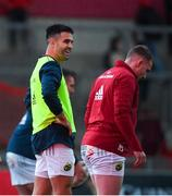 9 November 2019; Conor Murray and Rory Scannell of Munster prior to the Guinness PRO14 Round 6 match between Munster and Ulster at Thomond Park in Limerick. Photo by Diarmuid Greene/Sportsfile