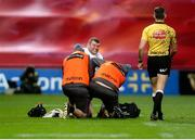 9 November 2019; Jack McGrath of Ulster dislocated his thumb during the Guinness PRO14 Round 6 match between Munster and Ulster at Thomond Park in Limerick. Photo by John Dickson/ Sportsfile