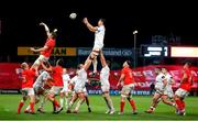 9 November 2019; Sam Carter of Ulster wins a lineout during the Guinness PRO14 Round 6 match between Munster and Ulster at Thomond Park in Limerick. Photo by John Dickson/ Sportsfile