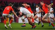 9 November 2019; Marty Moore of Ulster loses possession as he is tackled by CJ Stander of Munster during the Guinness PRO14 Round 6 match between Munster and Ulster at Thomond Park in Limerick. Photo by Brendan Moran/Sportsfile
