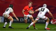 9 November 2019; Mike Haley of Munster in action against Angus Curtis, left, and Luke Marshall of Ulster during the Guinness PRO14 Round 6 match between Munster and Ulster at Thomond Park in Limerick. Photo by Brendan Moran/Sportsfile