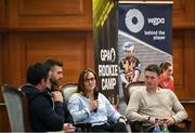 9 November 2019; Former Galway dual GAA player Alan Kerins, Antrim hurler Neil McManus, Cork camogie player Aoife Murray and Longford footballer Mickey Quinn during a GPA Rookie Camp at Johnstown Estate in Enfield, Co. Meath. Photo by Ramsey Cardy/Sportsfile
