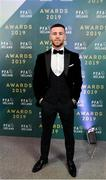 9 November 2019; Jack Byrne of Shamrock Rovers arrives prior to the PFA Ireland Awards 2019 at The Marker Hotel in Dublin. Photo by Seb Daly/Sportsfile