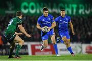8 November 2019; Ross Byrne, left, and Adam Byrne of Leinster during the Guinness PRO14 Round 6 match between Connacht and Leinster at the Sportsground in Galway. Photo by Ramsey Cardy/Sportsfile