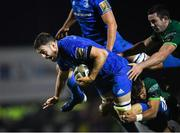 8 November 2019; Josh Murphy of Leinster is tackled by Jarrad Butler of Connacht during the Guinness PRO14 Round 6 match between Connacht and Leinster at the Sportsground in Galway. Photo by Ramsey Cardy/Sportsfile