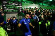 8 November 2019; James Lowe of Leinster ahead of the Guinness PRO14 Round 6 match between Connacht and Leinster at the Sportsground in Galway. Photo by Ramsey Cardy/Sportsfile