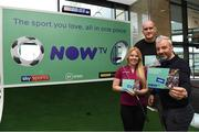 10 November 2019; Ireland and Leinster rugby legend Devin Toner, former Republic of Ireland International football player Stephen Hunt and LPGA tour golfer Stephanie Meadow in attendance at the launch of the Sports Extra Pass on NOW TV in Dundrum Town Centre on Saturday. The Sports Extra Pass means sports fans can now watch all the action on BT Sport and Premier Sports, including UEFA Champions League, Champions Cup Rugby and Premier League 3pm kick offs, all without a contract. For more information go to www.nowtv.com/ie. Photo by Matt Browne/Sportsfile