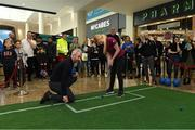10 November 2019; LPGA tour player Stephanie Meadow with former Republic of Ireland International football player Stephen Hunt in attendance at the launch of the Sports Extra Pass on NOW TV in Dundrum Town Centre on Saturday. The Sports Extra Pass means sports fans can now watch all the action on BT Sport and Premier Sports, including UEFA Champions League, Champions Cup Rugby and Premier League 3pm kick offs, all without a contract. For more information go to www.nowtv.com/ie. Photo by Matt Browne/Sportsfile